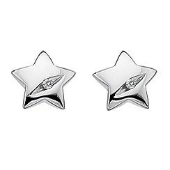Hot Diamonds - Sterling silver diamond star earrings