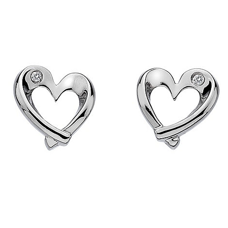 Hot Diamonds - Sterling silver diamond entwine heart earrings