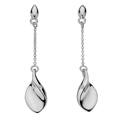 Hot Diamonds - Sterling silver +go with the flow+ drop earrings