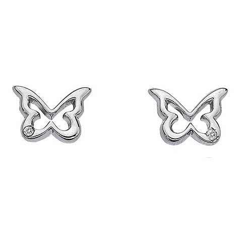 Hot Diamonds - Sterling silver diamond butterfly earrings