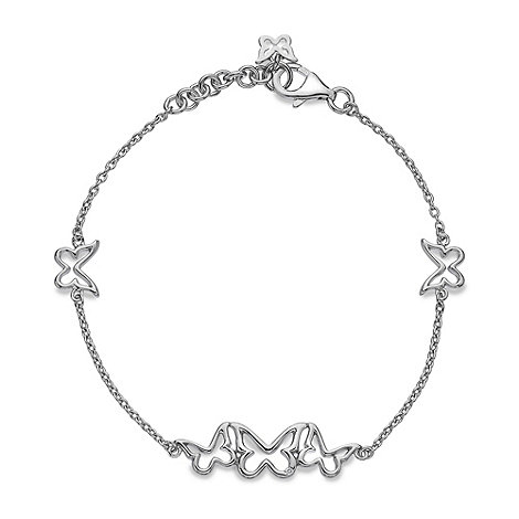 Hot Diamonds - Sterling silver diamond butterfly bracelet
