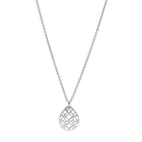 Fossil - Silver cutout teardrop necklace