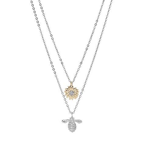 Fossil - Silver multi drop flower pendant necklace