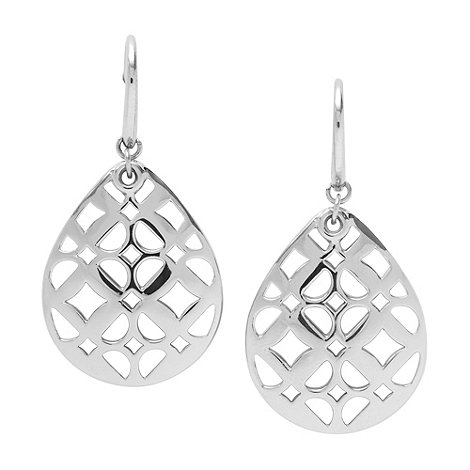 Fossil - Silver cutout teardrop earrings