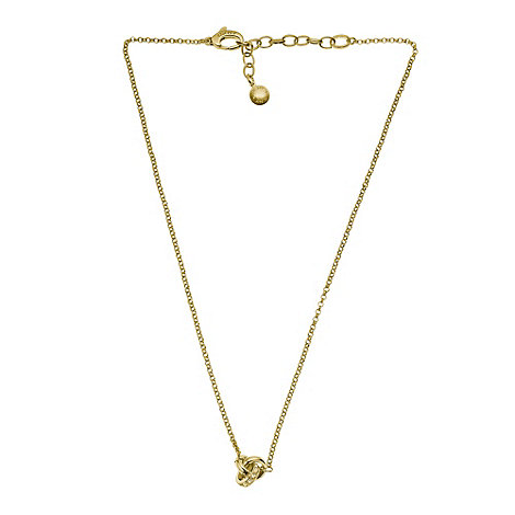DKNY - Gold diamante knot necklace
