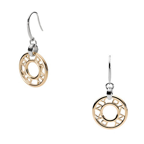 DKNY - Gold logo donut drop earrings
