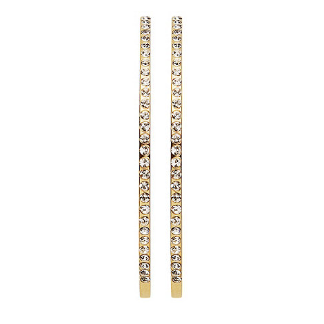 Dyrberg Kern - Gold +quinn+ crystal hoop earrings