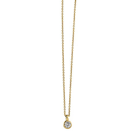 Dyrberg Kern - Gold +ette+ crystal necklace