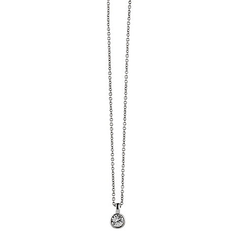 Dyrberg Kern - Silver +ette+ crystal necklace
