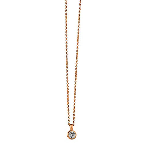 Dyrberg Kern - Rose 'ette' crystal necklace