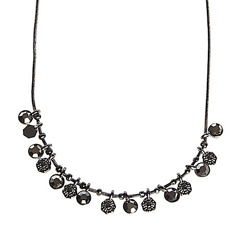 Pilgrim - Gunmetal multi disc necklace