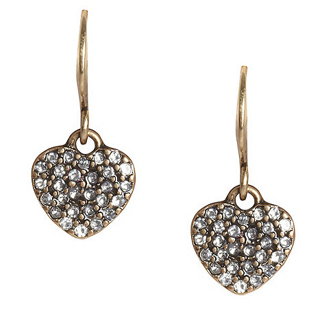 Pilgrim - Gold heart drop earrings