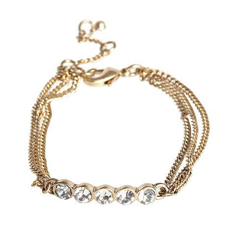 Pilgrim - Gold diamante line bracelet