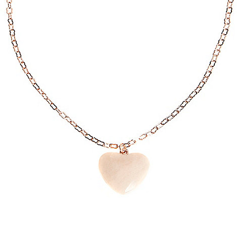 Miss Lola by Lola Rose - Peach heart stone pendant necklace