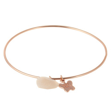 Miss Lola by Lola Rose - Rose heart charm bangle bracelet