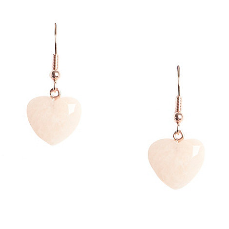 Miss Lola by Lola Rose - Peach heart stone drop earrings