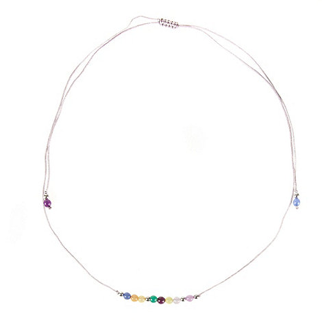 Miss Lola by Lola Rose - Purple beaded +i love you+ necklace