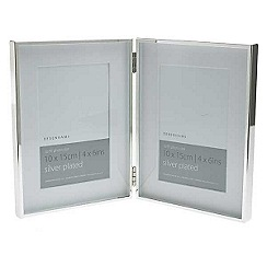 Debenhams - Silver double photo frame