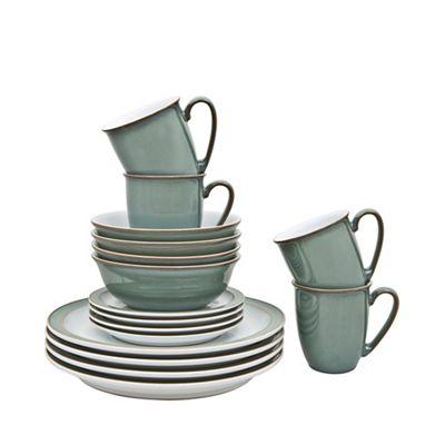 denby regency green sixteen piece dinner set. Black Bedroom Furniture Sets. Home Design Ideas