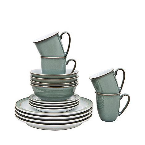 denby regency green sixteen piece dinner set debenhams. Black Bedroom Furniture Sets. Home Design Ideas