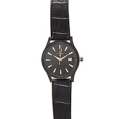 J by Jasper Conran - Men's black striped dial analogue watch