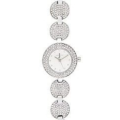 J by Jasper Conran - Ladies silver diamante watch