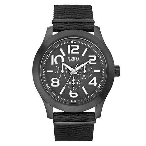 Guess - Men+s black multi dial watch