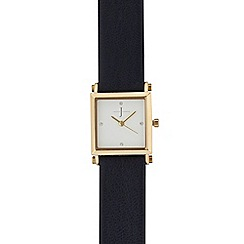 J by Jasper Conran - Ladies navy square analogue watch