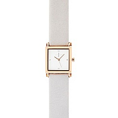 J by Jasper Conran - Ladies grey square analogue watch