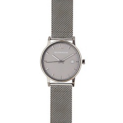 RJR.John Rocha - Men's gunmetal mesh strap watch