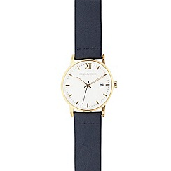 RJR.John Rocha - Men's navy leather analogue watch