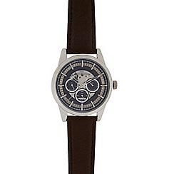 RJR.John Rocha - Men's brown skeleton mock multi dial watch