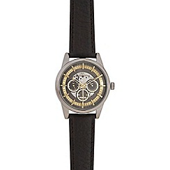 RJR.John Rocha - Men's black exposed chronograph watch