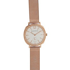 RJR.John Rocha - Ladies rose gold plated mesh analogue watch