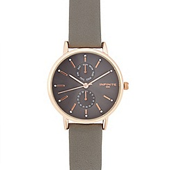 Infinite - Ladies grey analogue watch