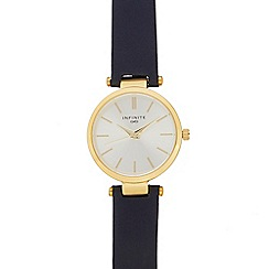 Infinite - Ladies' navy leather strap analogue watch