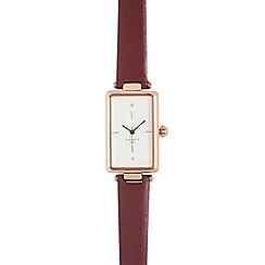 Infinite - Ladies dark red rectangular face watch