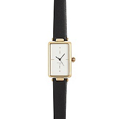 Infinite - Ladies black rectangular face watch