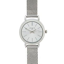 Infinite - Ladies silver mesh analogue watch