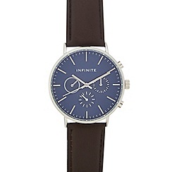 Infinite - Men's Brown mock multi-dial analogue watch