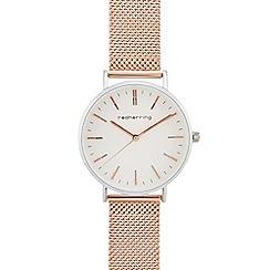 Red Herring - Ladies' rose gold mesh strap analogue watch