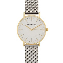 Red Herring - Ladies silver plated mesh strap analogue watch