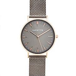 Infinite - Ladies' grey mesh strap analogue watch