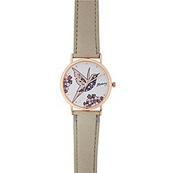 Mantaray - Ladies pink bird analogue watch