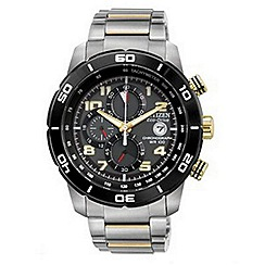 Citizen - Men's 'Eco-Drive' silver bracelet watch
