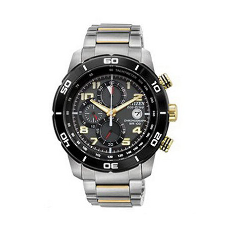 Citizen - Men+s +Eco-Drive+ silver bracelet watch