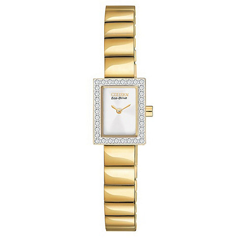 Citizen - Ladies 'Eco-Drive' silhouette crystal watch