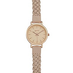 Mantaray - Ladies pink plaited analogue watch