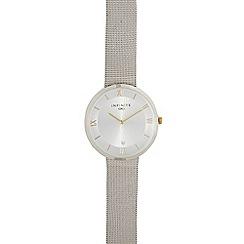 Infinite - Ladies silver plated mesh watch