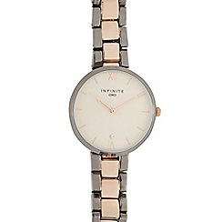 Infinite - Ladies silver and gold plated bracelet watch